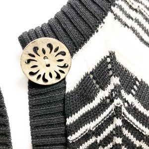 Icelandic Design Sweaters - Icelandic Design Cardigan Duster Wood Buttons